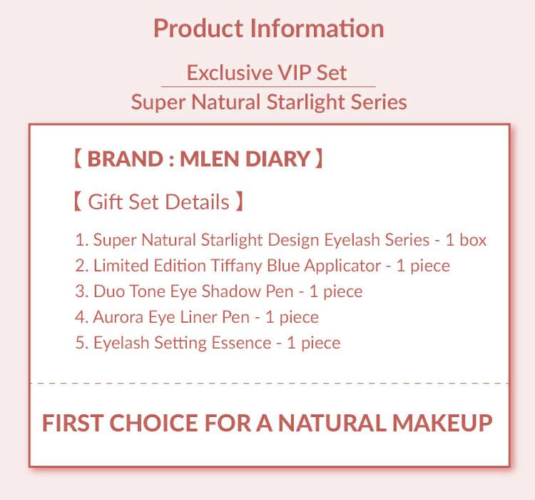 Super Natural Starlight Series,Super Natural Starlight Design Eyelash Series,MLEN,MLEN Magnetic Eyelashes