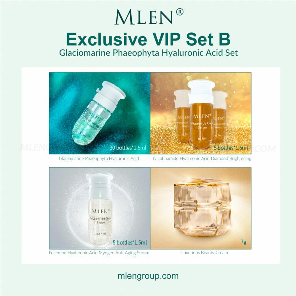mlen group mlen exclusive vip set b glaciomarine phaeophyta hyaluronic acid set 2