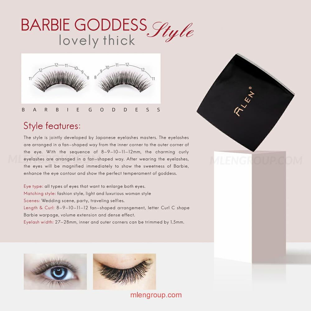 mlen group mlen magnetic eyelashes barbie goddess 8