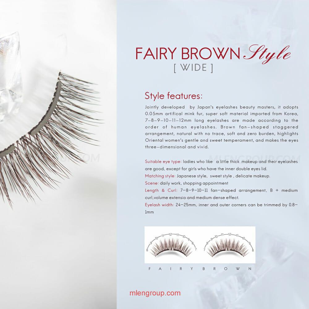 mlen group mlen magnetic eyelashes brown fairy style 8