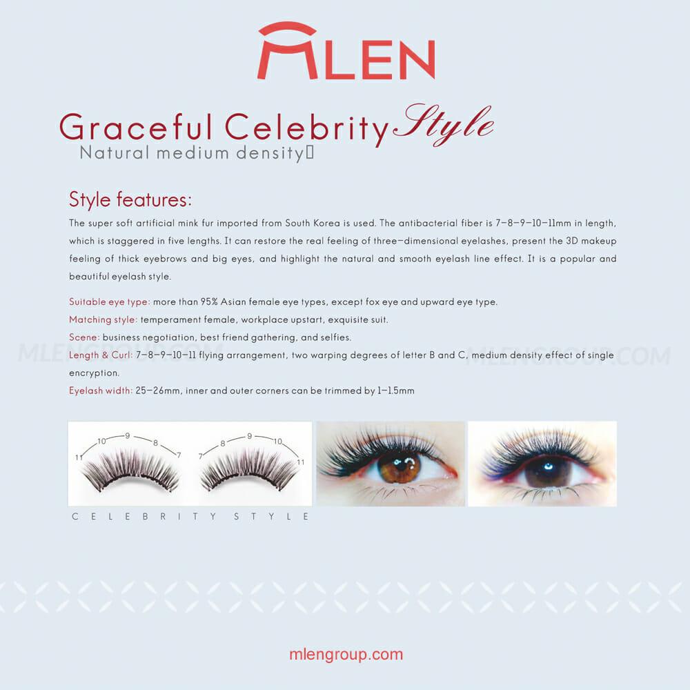 mlen group mlen magnetic eyelashes graceful celebrity style 08