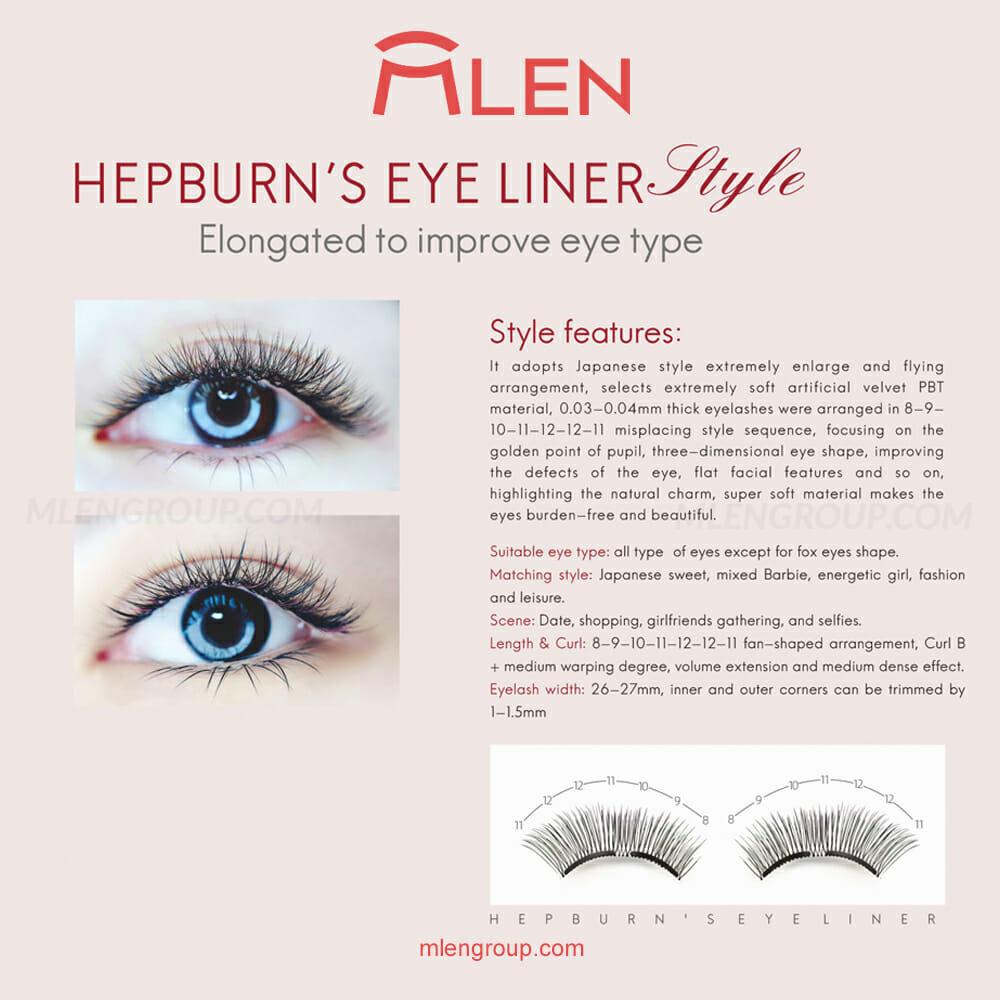 mlen group mlen magnetic eyelashes hepburn's eyeliner 8