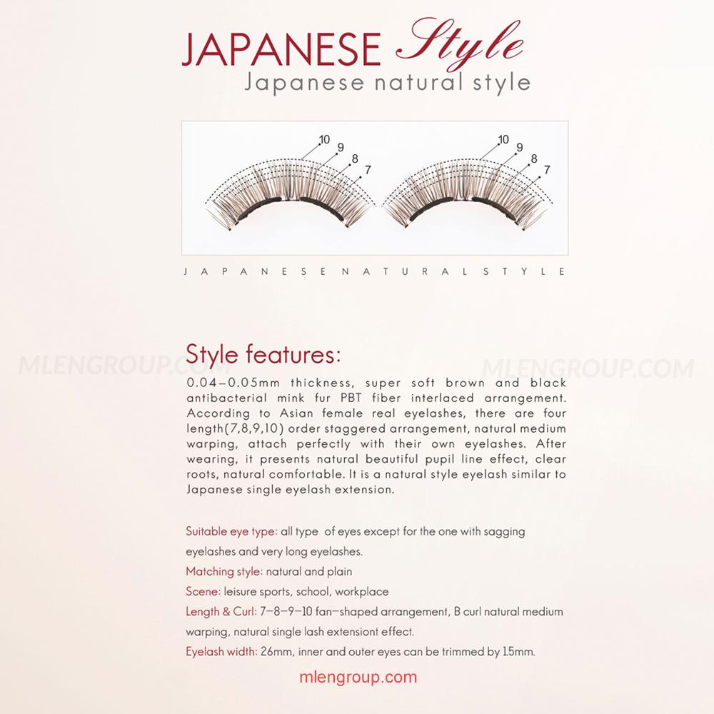 mlen group mlen magnetic eyelashes japanese natural 8