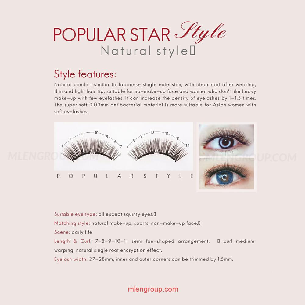 mlen group mlen magnetic eyelashes popular star style 8