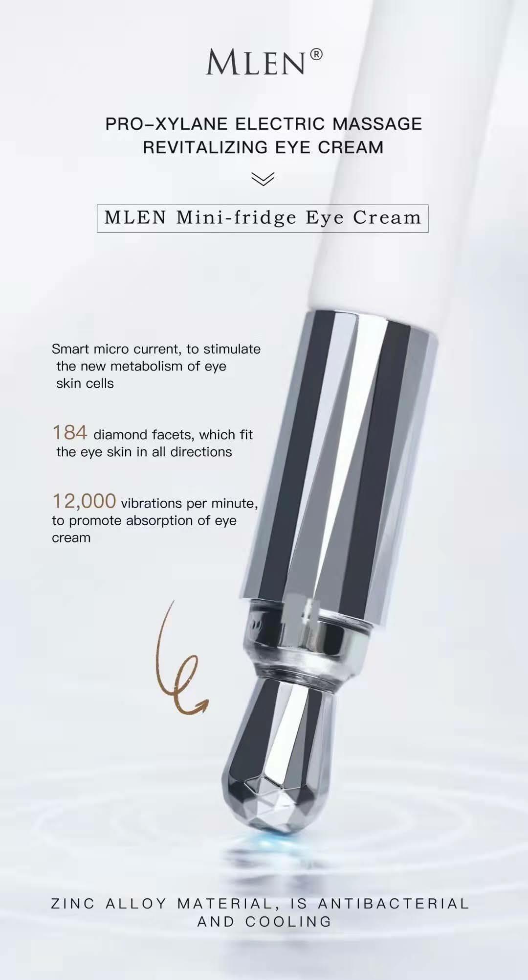 mlen group pro xylane electric massage revitalizing eye cream 3