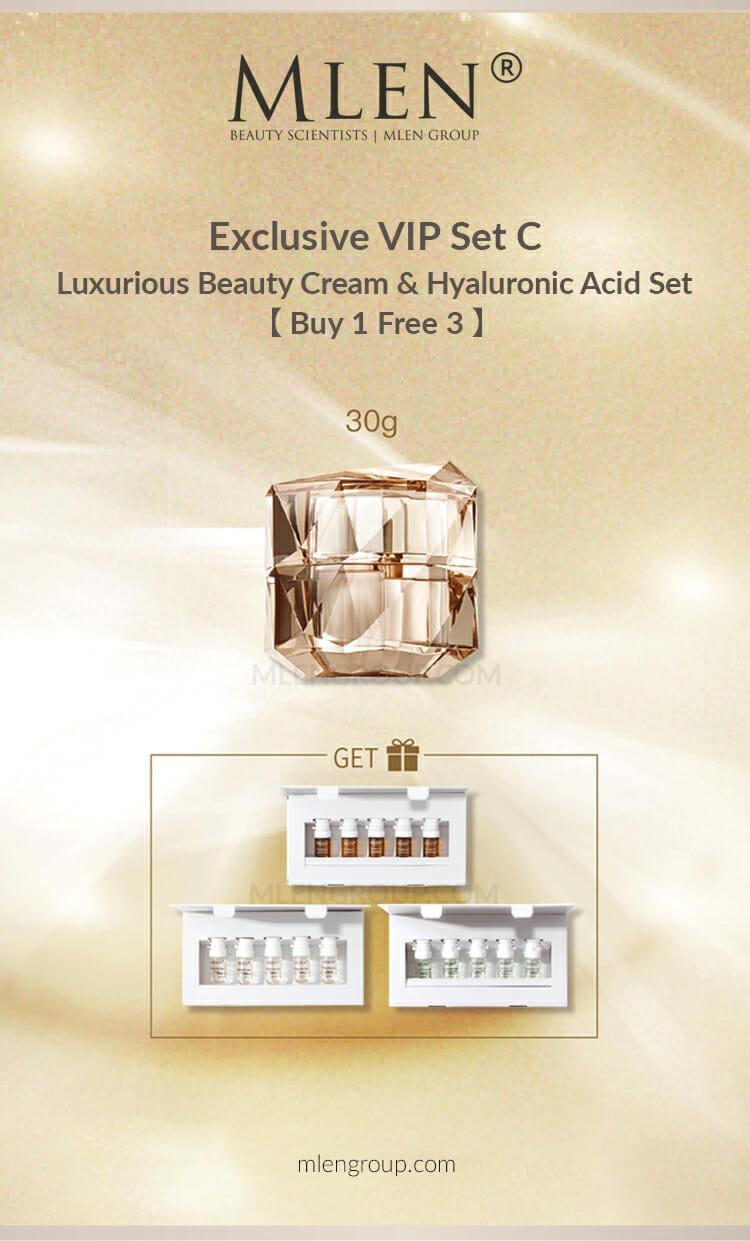 mlen group mlen exclusive set c luxurious beauty cream 3